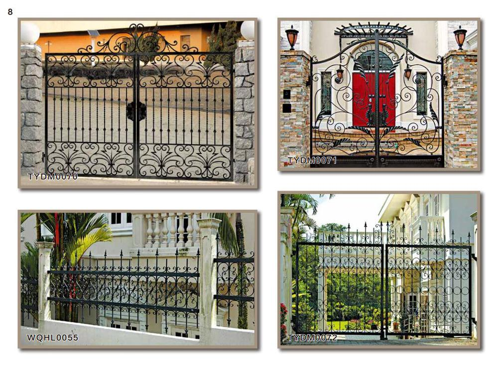 Decorative security wrought iron gates design buy
