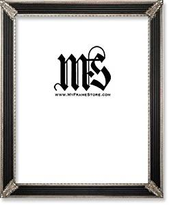 Imperial Frames 16 by 20-Inch/20 by 16-Inch Picture/Photo/Poster Frame, Solid Wood in Black and Silver