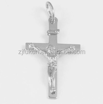 Fashion Gold / Silver 3 Dimensional Crucifix Cross Charm For Bracelet