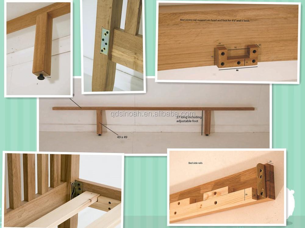 eiken meubelen moderne slaapkamer set dubbele houten bed