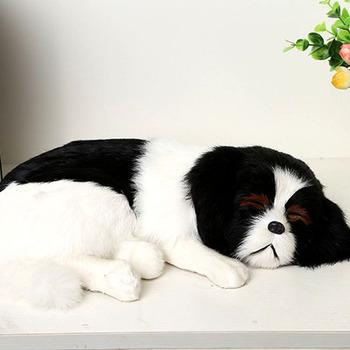 Plush Animal Real Looking Fake Fur Lovely Sleeping Dog Toys Buy
