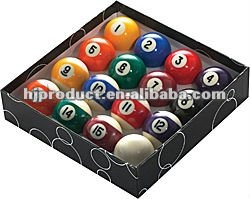hot-sale and professional 80% resin billiard balls