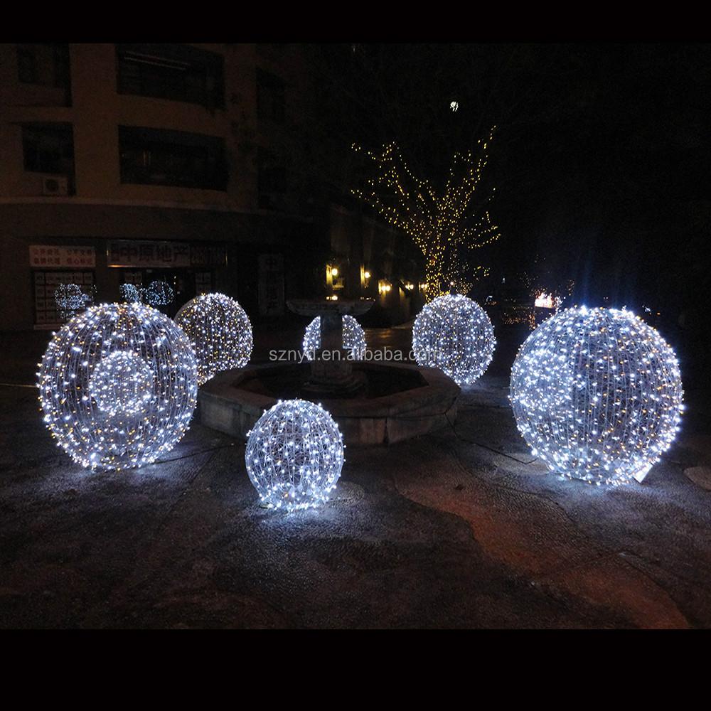 Cascada adorno outdoor iluminado navidad bolas de