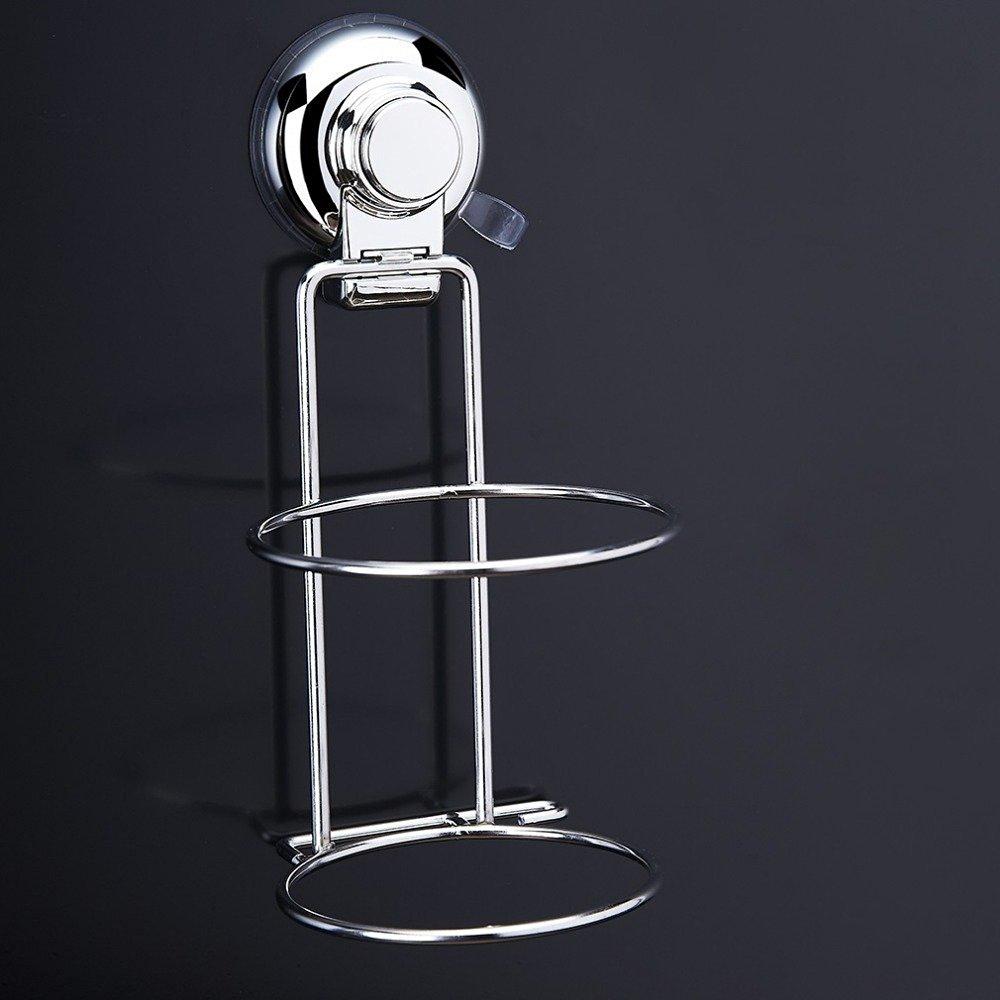 1 PCS Hair Dryer Holder Bathroom Storage Holder Rack Stainless Steel Wall Mount