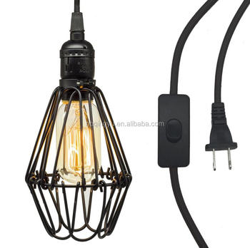 Vintage industrial metal cage wire frame black color cafe loft bar vintage industrial metal cage wire frame black color cafe loft bar pendant light lamp shade mozeypictures Image collections
