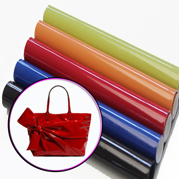 Wrinkle free patent leather for bags, shoes and wallets