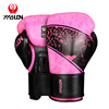 Comfortable and powerful Cowhide boxing gloves