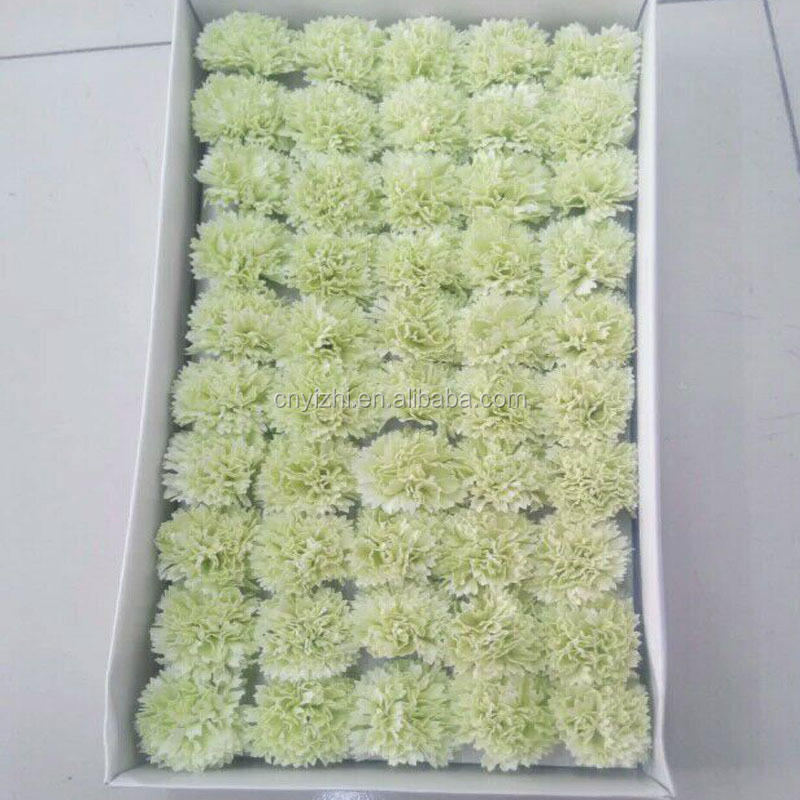 White color carnation shape valentine 's day gift soap flower