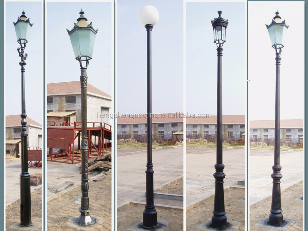 H Iron Manufacturers Mail: HS-L-100 Manufacturer Of Cast Iron Street Lighting Pole