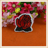 new design small rose flower embroidery patch/applique iron for garment