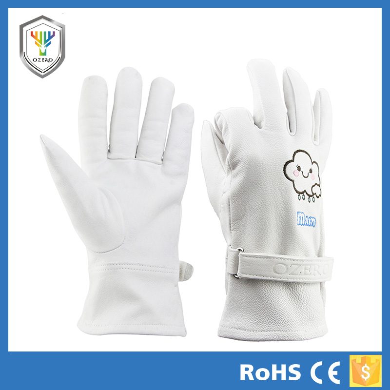 professional landscape suede leather yard gloves for women