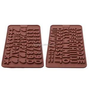 Alphabet Letter and Number Shape Silicone Candy Chocolate Molds
