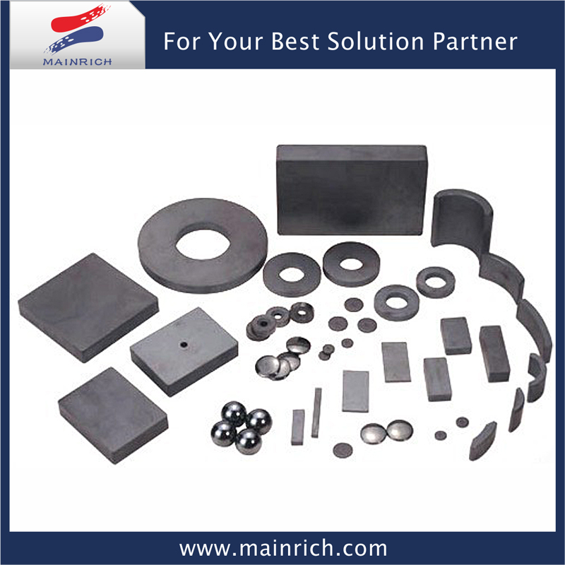 Cheap price for various size hard permanent type/ferrite magnetic used in magnet of speaker toy moter