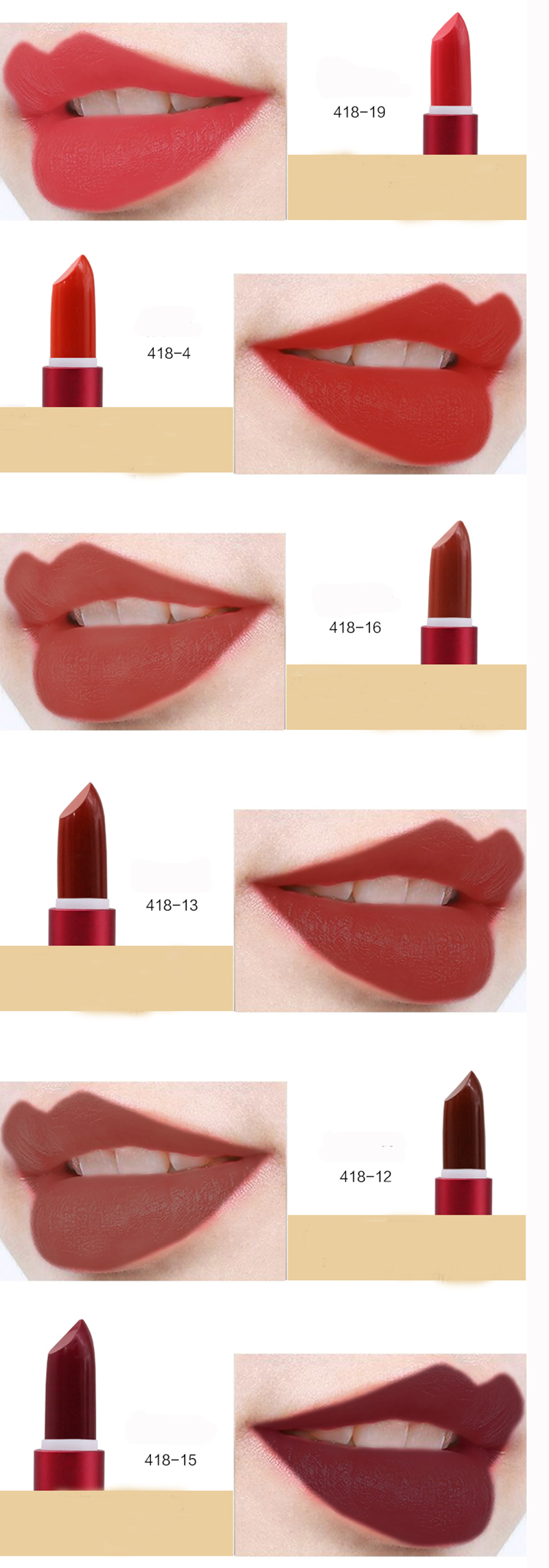 Make Up Factory Niedriger Preis OEM Matte Lipstick Private Label Eigene Marke