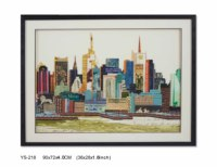 YS-218 Modern Collage Art Wall Art Stickers New York City 72*90CM