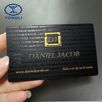 China factory high quality custom design paper embossed business card printing
