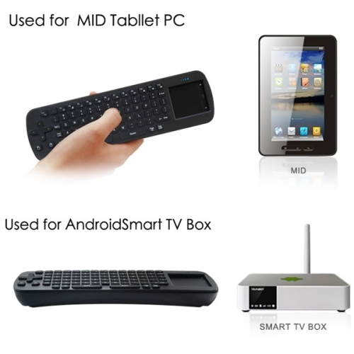 2.4G USB Alibaba Best Seller Wireless Keyboard Touchpad Air Fly Mouse for Mini PC / Android TV Box