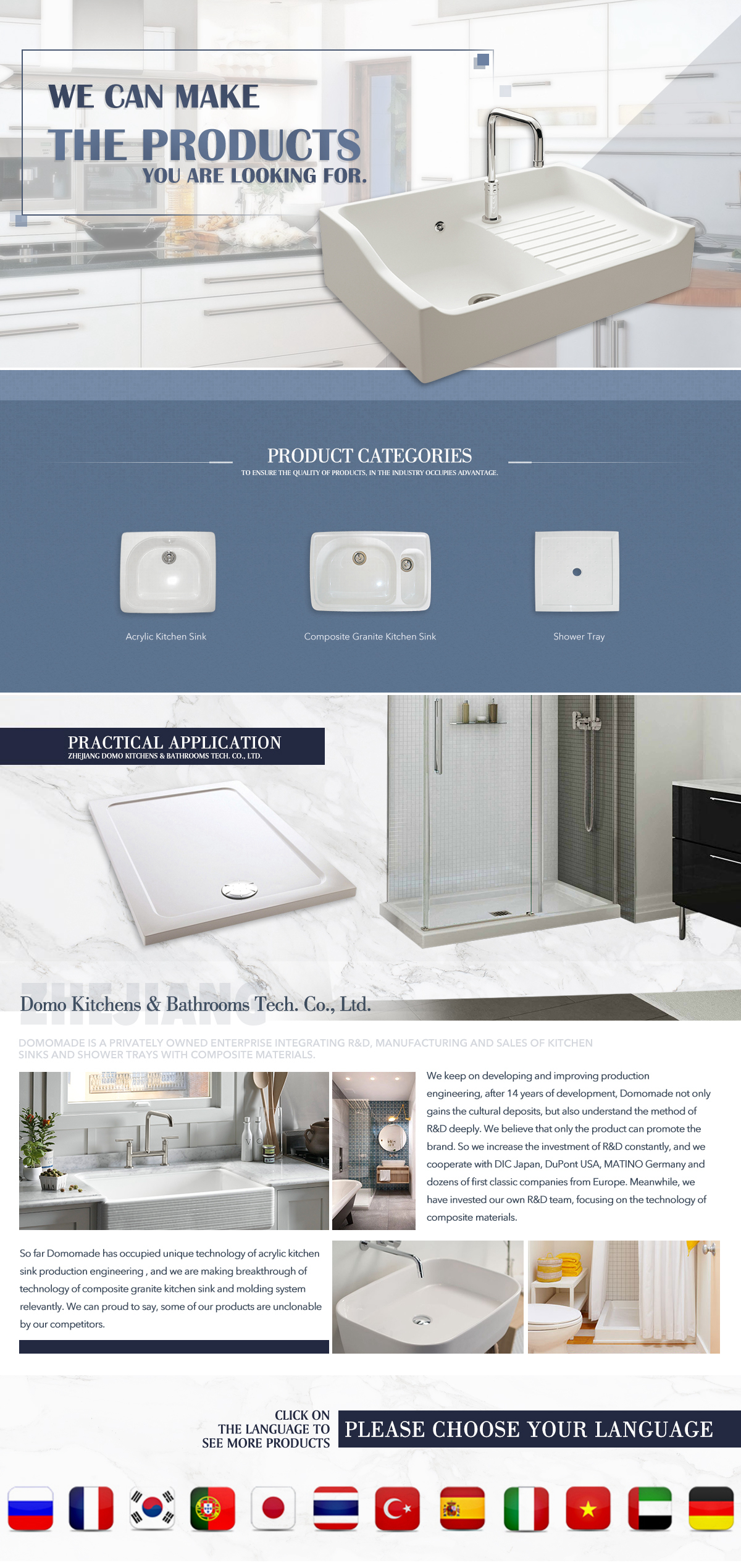 Zhejiang Domo Kitchens And Bathrooms Tech. Co., Ltd. - acrylic ...
