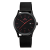 NO 7345 Red Number Black Dial Outdoor Men Alloy Watches