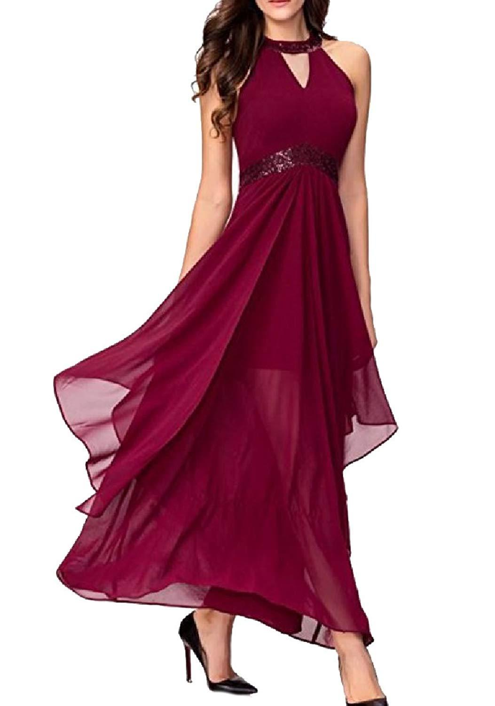 Get Quotations · VITryst-Women High Waist Backless Wedding Flowy Fashion  Tuxedo Dress c73e1d5de