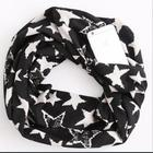 Acrylic Leopard Fashion Infinity Scarf Hidden Zipper Scarves With Pocket for Women Girls Travel