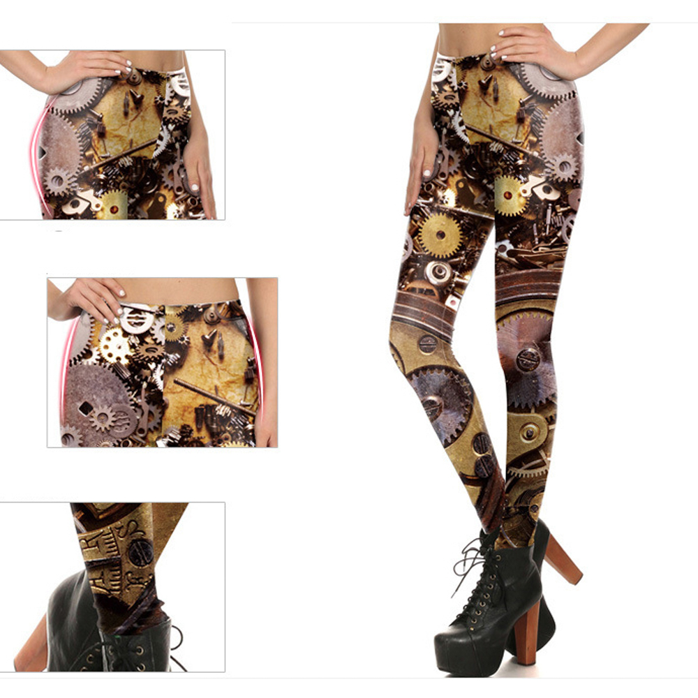 92% polyester 8% spandex double brushed leggings pants buttery soft pattern printed leggings