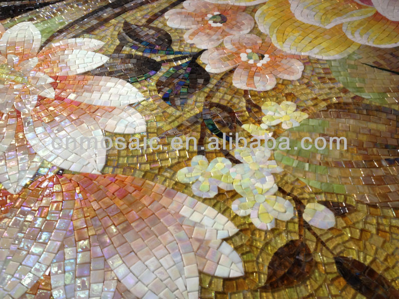 glass mosaic patern decorative wall and floor art murals tiles