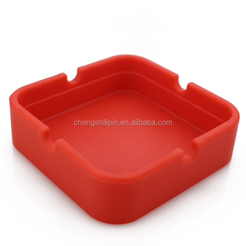 Sedex Factory Heat-resisting Non-toxic Square Silicone Ashtray Smoking Accessories