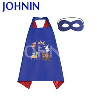Hot Selling Satin Promotional Cute Superhero Cape And Mask For Kids