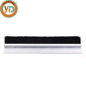 Aluminum strip channel sliding door window seal brushes