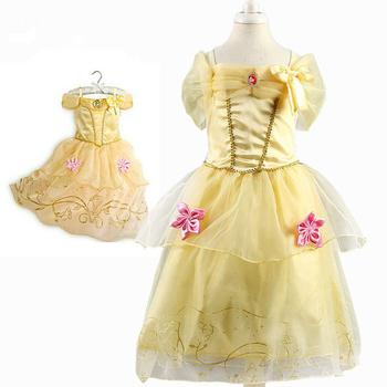 ef7802409193b Filles Princesse Belle Robes Enfants Cosplay Costume Vêtements Enfants  Rapunzel Cendrillon Bois Dormant Sofia Robe De Soirée - Buy Belle ...