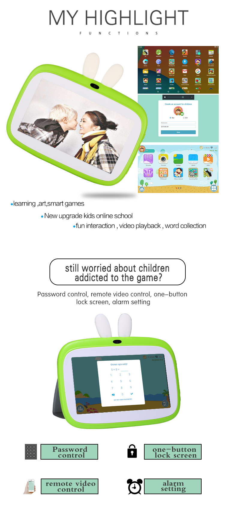 Veidoo Free shipping 2020 new Tablet PC kids,Children tablet, kids learning tablet