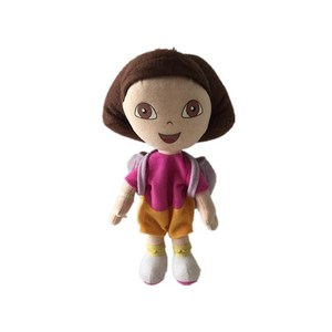 Plush Dora Doll carrying a shcoolbag/little girl doll