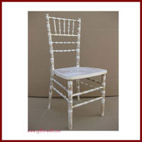 wooden Wholesale Fancy Wood Stacking chiavari chair white wood for event and birthday