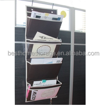 Delicieux Oxford Hanging Folder Wall Organizer Office Mail Organizer Over The Door  Magazine Storage (4 Pockets