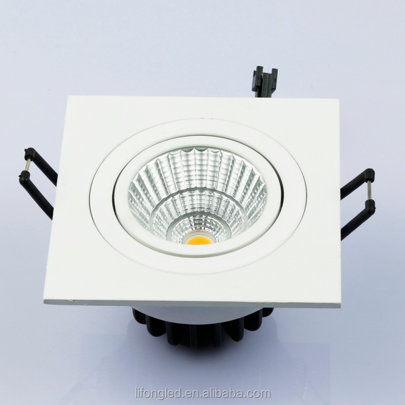 Hot Selling 15w Square Led Adjustable Ceiling Cob Lights For Cut ...