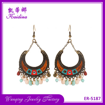 Wq Fashion Chandelier Indian Gothic Earrings Woman Costume Jewelry Manufacturers