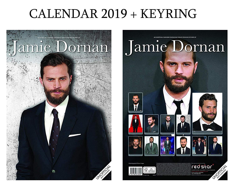 Jamie Dornan Calendar 2019 (A3 Poster Size) + Jamie Dornan Keyring