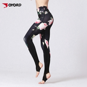 Custom active pants women compression leggings yoga running tight ladies sports wear
