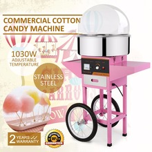 Cotton Candy Machine Candy Electric Floss Maker Commercial Use 1030W for Wedding Party Sugar Cotton Machine with Cart Cover