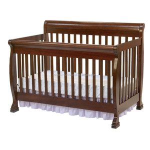 4 in 1 cherry color wooden baby cot