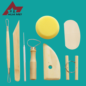 Professional 8pcs Wooden Metal Clay Tool / Pottery Clay Tool
