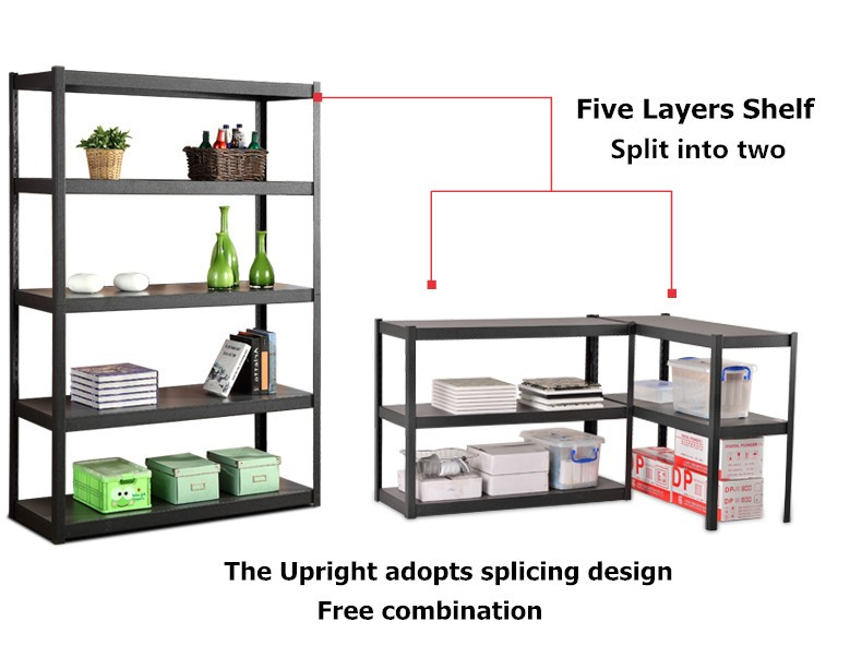 light duty slotted angle iron storage racks for home / office