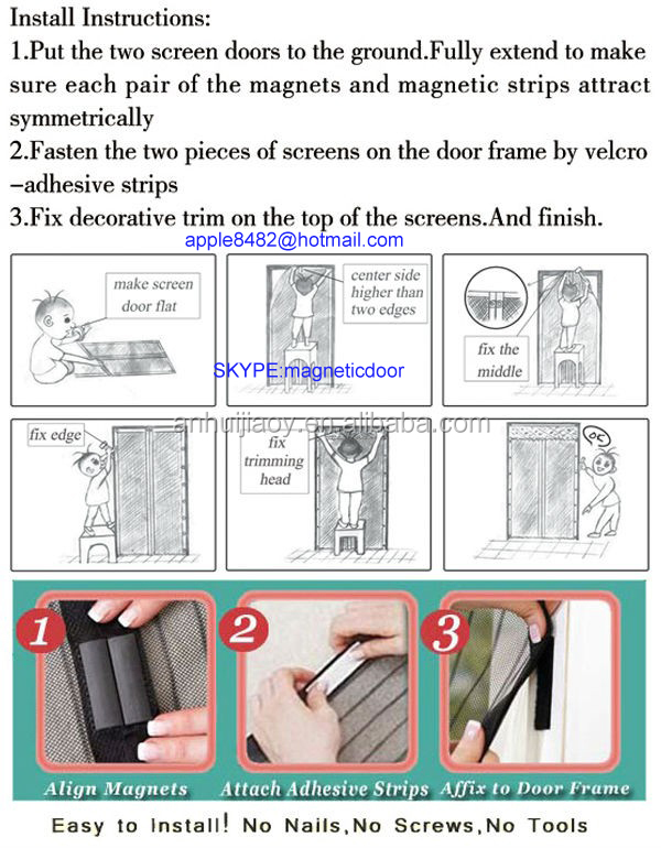 mosquito net frame instructions