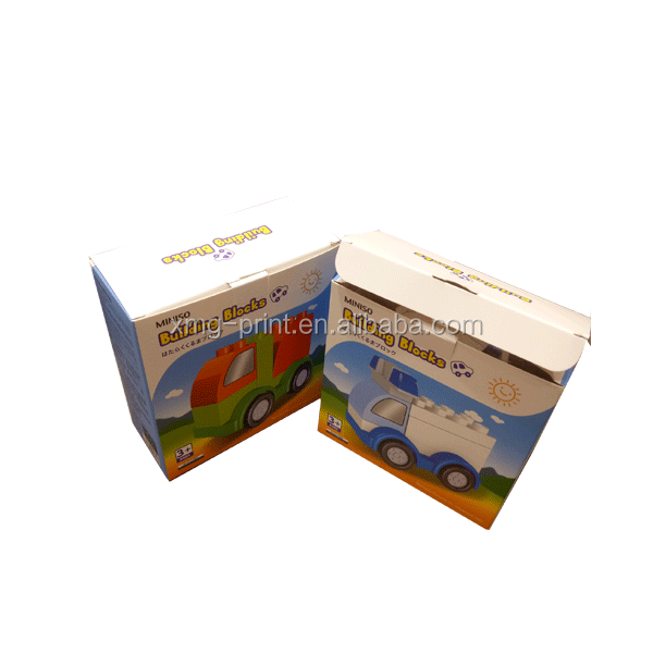 Custom baby child education toy white cardboard box packaging