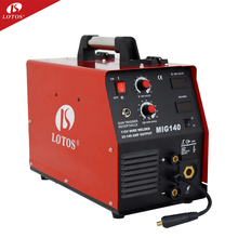 Lotos Mig140 Manufactory Hotsale Draagbare Mini CO2 Mig <span class=keywords><strong>Lasser</strong></span> dc 110 v 220 v <span class=keywords><strong>aluminium</strong></span> Mig Lasmachine