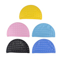 2016 New Arrival Unisex Elastic Waterproof PU Fabric Protect Ears Long Hair Sports Swim Pool Hat
