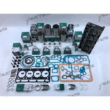 V2403 Engine Repair Part Cylinder Head With Liner Kit Full Gasket Engine Valves Bearing Set For Kubota