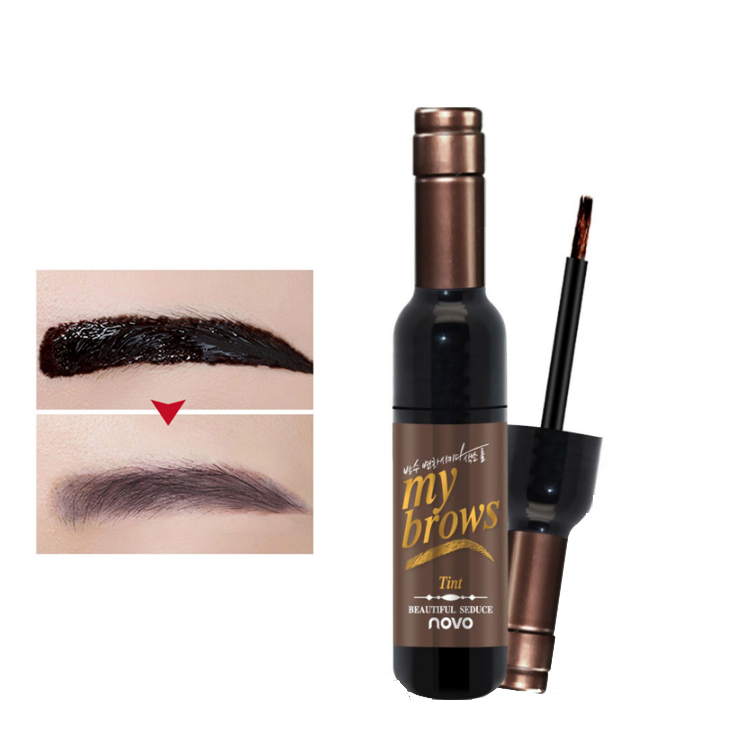 NOVO cosmetics New Style Tattoo Eyebrow Gel Super Lasting for 72h Waterproof Natural sobrancelhas Eyebrow Peel Off Tint