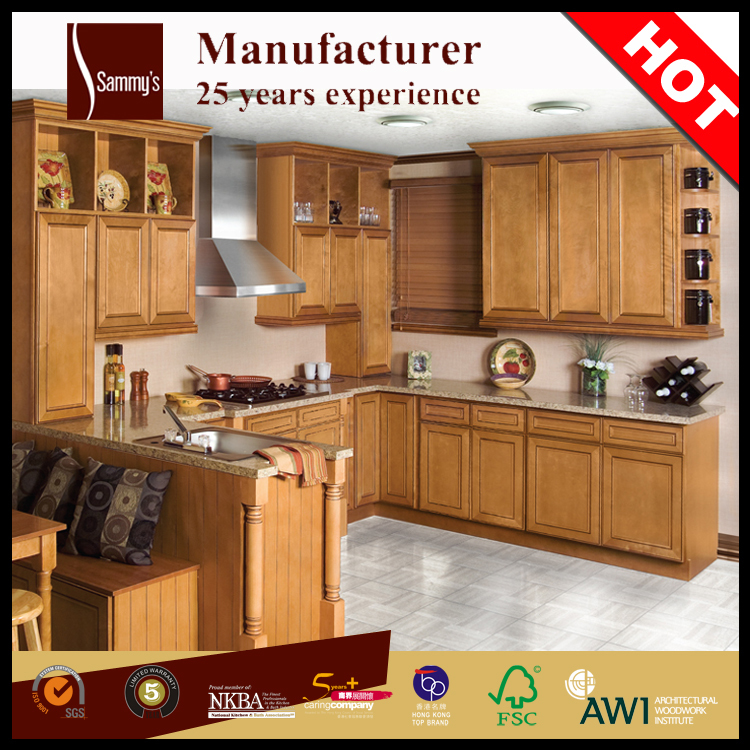 Kitchen Cabinet Teak Beech Cherry Wood